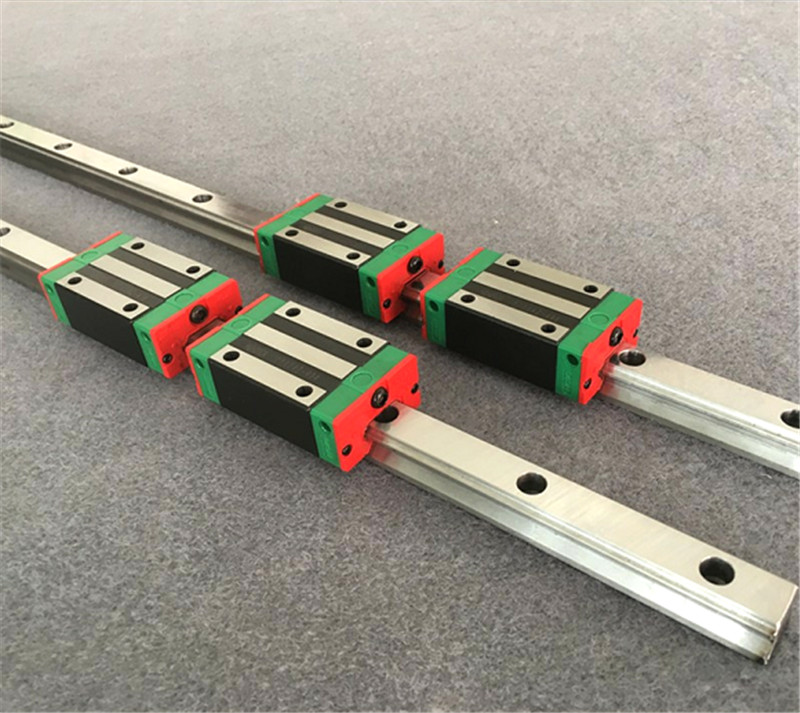 Conjunto de Trilhos Lineares HGR15 2 + 1 Fusoes Atuadores SFU1605 Qualquer Comprimento + Ballscrew SupportBK/BF12 + 1 Engates Para CNC