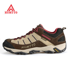 Famous Brand Mens Leather Outdoor Trekking Hiking Shoes Sneakers For Men Wearable Climbing Mountain Shoes Man High Quality Shoe
