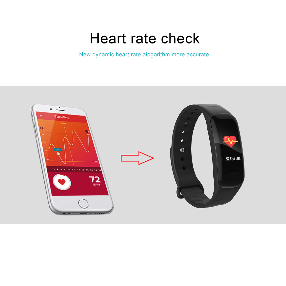 TREZER C1P Fitness Bracelet Heart Rate Monitor Color Screen Blood Pressure Measurement Smart Wristband for IOS Android Phone (7)