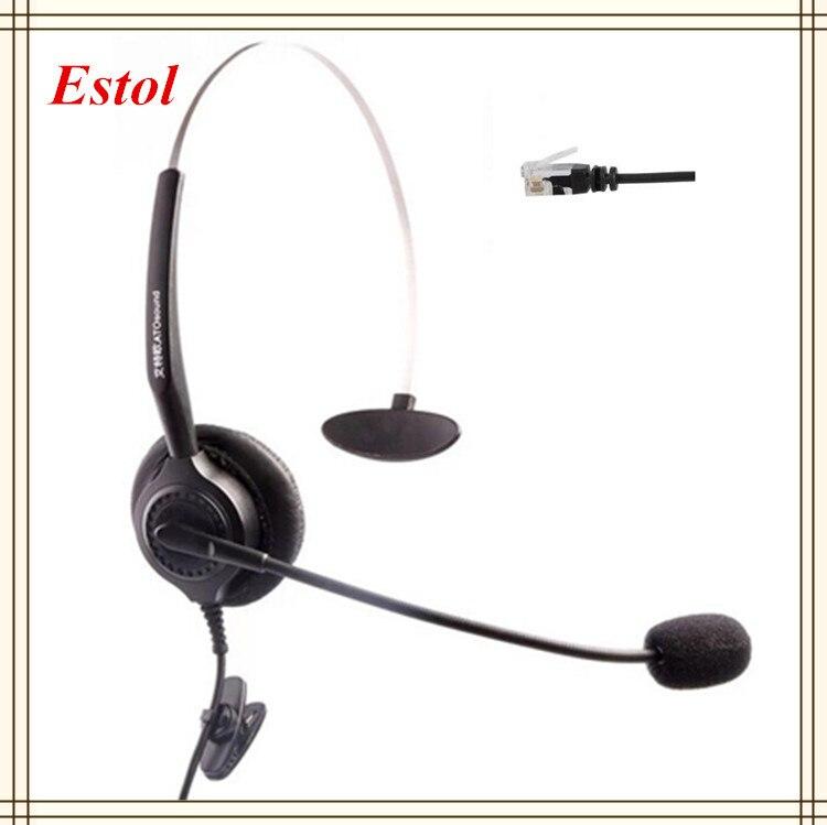 Telefone & Zubehör Mono Mono Einzel Ear-headset Rj9 Stecker Headset Schaum Ohr Pad Call-center Kopfhörer Ausbildung Audio Headset Und Ein Langes Leben Haben.