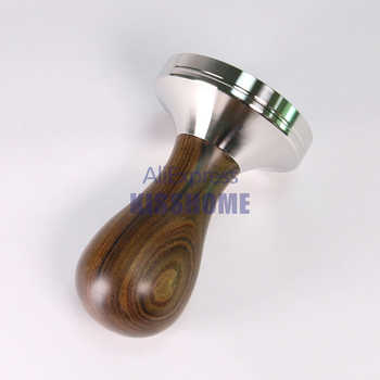 304 Stainless Steel Coffee Tamper Chacate Preto Wood Handle Coffee Powder Hammer 41/49/51/53/57/57.5/58/58.35mm Cafe Accessories