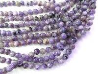 Großhandel Charoite Edelstein, Charoite Perle Glatte Korn, Naturstein, halb Kostbare Perle, blaue Perle 6 8mm voller strang