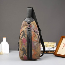 Camouflage man chest package tide canvas color package single shoulder bag new tide men's bags