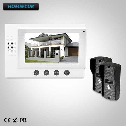 HOMSECUR 7 Wired Video Door Entry Phone Call System Electric Lock Supported: TC031 Camera + TM701-W Monitor (White)HOMSECUR 7 Wired Video Door Entry Phone Call System Electric Lock Supported: TC031 Camera + TM701-W Monitor (White)