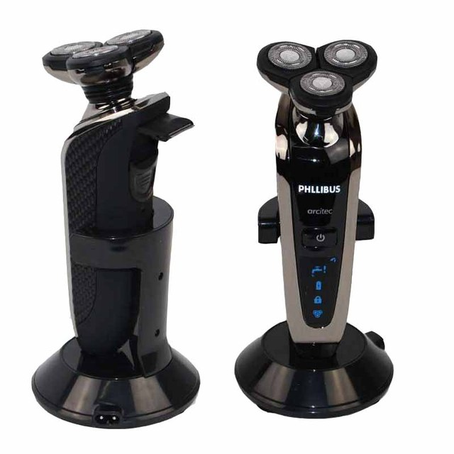 High quality 3 heads Blades Rechargeable Washable Electric  Shaver For men Shaving Foam Rotary Razor  B5012