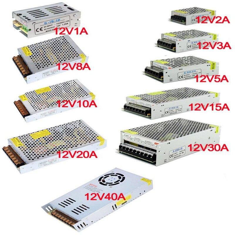 12V Power Supply led driver Lighting Transformer for LED Strip  24W 36W 60W 100W 120W 180W 240W 360W 480W