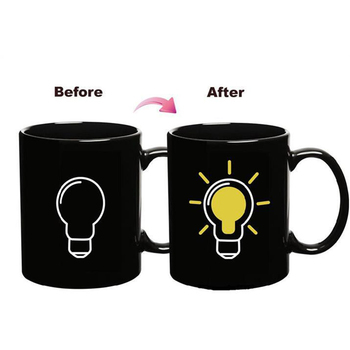 الإبداعية 7 أنماط تلون القدح ، تغيير لون كوب السيراميك تلون القهوة الشاي الحليب أكواب هدايا فريدة