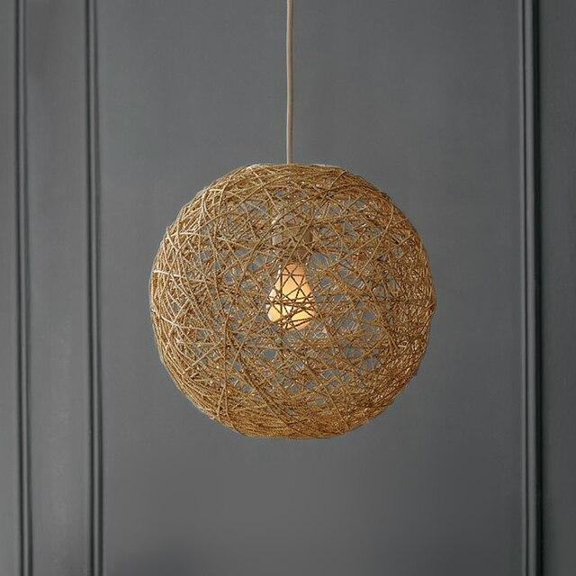 Ikea scandinave minimaliste éclairage morningstar rond ma balle lustre en rotin pastorale salon salle à manger