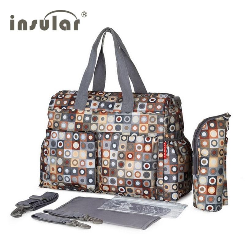 Insular Brand Baby Nappy Bags Diaper Bag Mother Shoulder Bag Fashion Maternity Mummy Handbag Waterproof Baby Stroller Bag