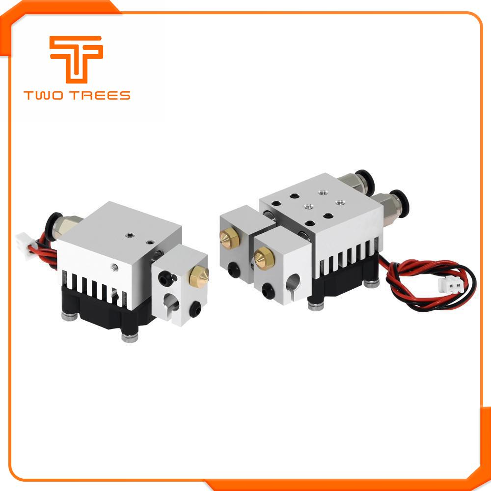 3D Chimera Hotend Kit  2 IN 2 OUT Extruder Multi-extrusion All Metal V6 Dual Single Extruder 0.4mm/1.75mm 3D Printer Parts