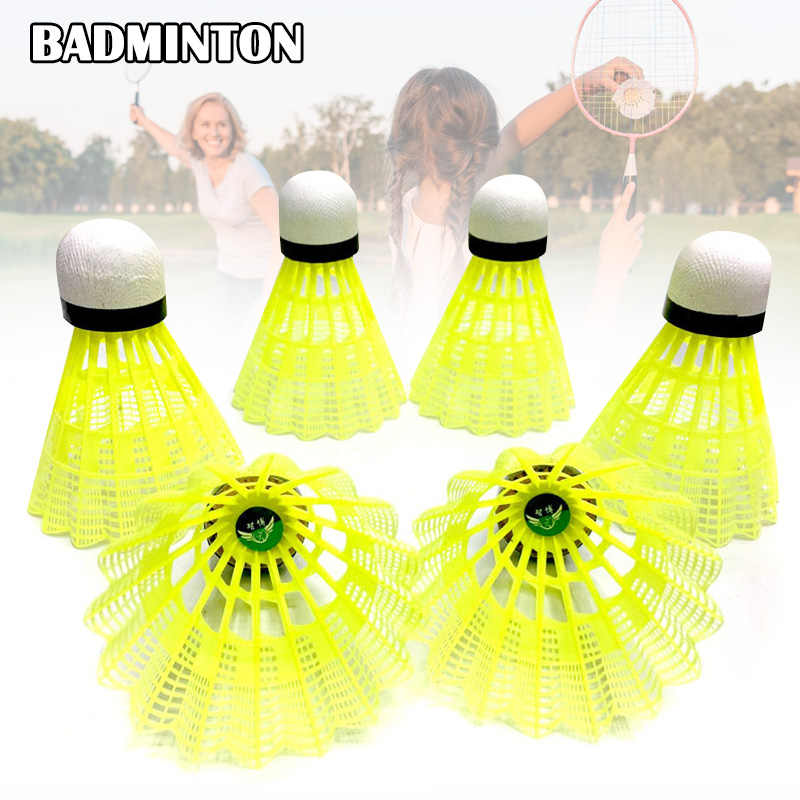 Nylon Badminton Shuttlecocks with Great Stability Durability Indoor Outdoor Sports Training Balls SMN88