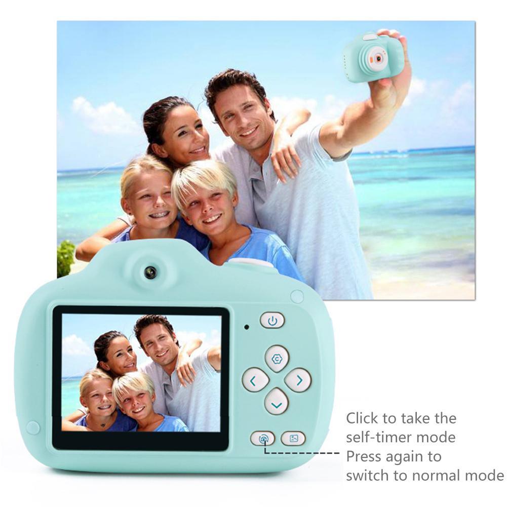 1 pièces 1080 P Mini SLR HD caméra de tir enfants appareil photo numérique jouet dessin animé 12 millions de pixels 2.3 pouces affichage