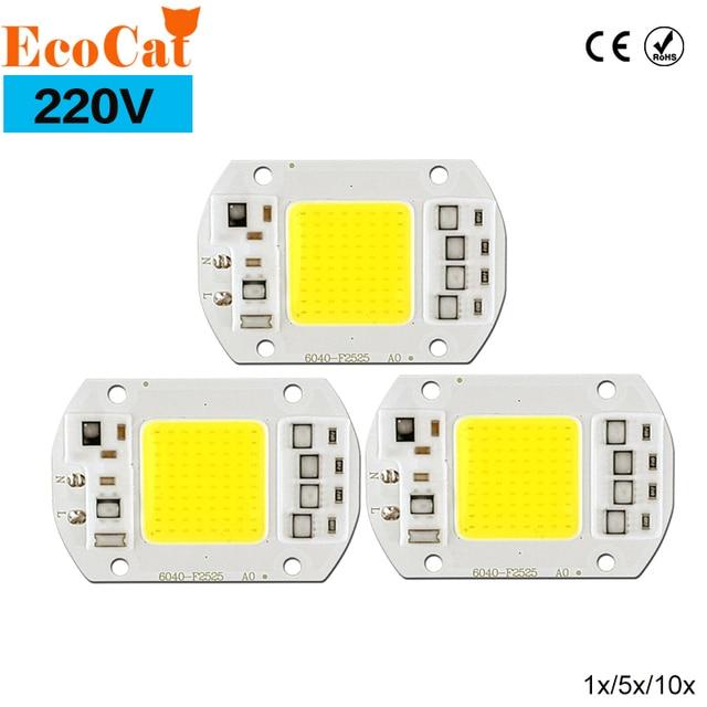 220V COB led lamps chip 50W 30W 20W No Need Driver Smart IC LED Bulb Lamp For Spotlight Flood Light Lamp Bulb