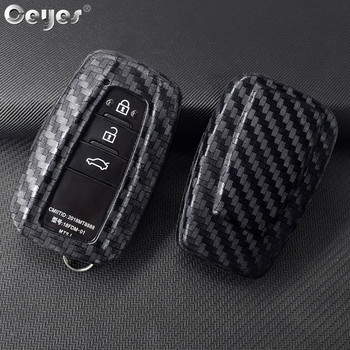 Ceyes Car Styling Accessories Smart Key Buttons Fob 3 Remotes Cover Case For Toyota Corolla Camry Prius Prado For Rav4 C HR 2018 image