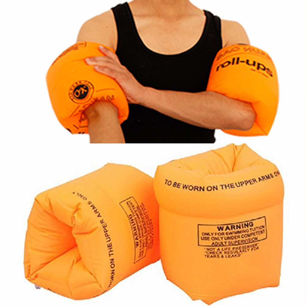 1Pair PVC Swimming Arm Roll-ups Float Water Air Sleeves For Adult Child Safety Training Inflatable in the Swim Pool