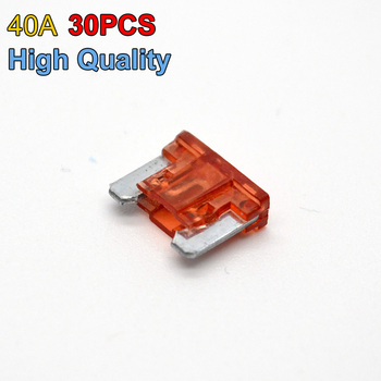 High Quality Brand 30pcs Mini Size Auto Boat Car Blade Fuse Replacement 40 AMP image