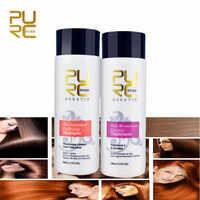 PURC 2p/set Formalin Keratin Hair Treatment Brazilian Keratin  Treatment+Purifying Shampoo Repair Damaged Hair Straightening Hair