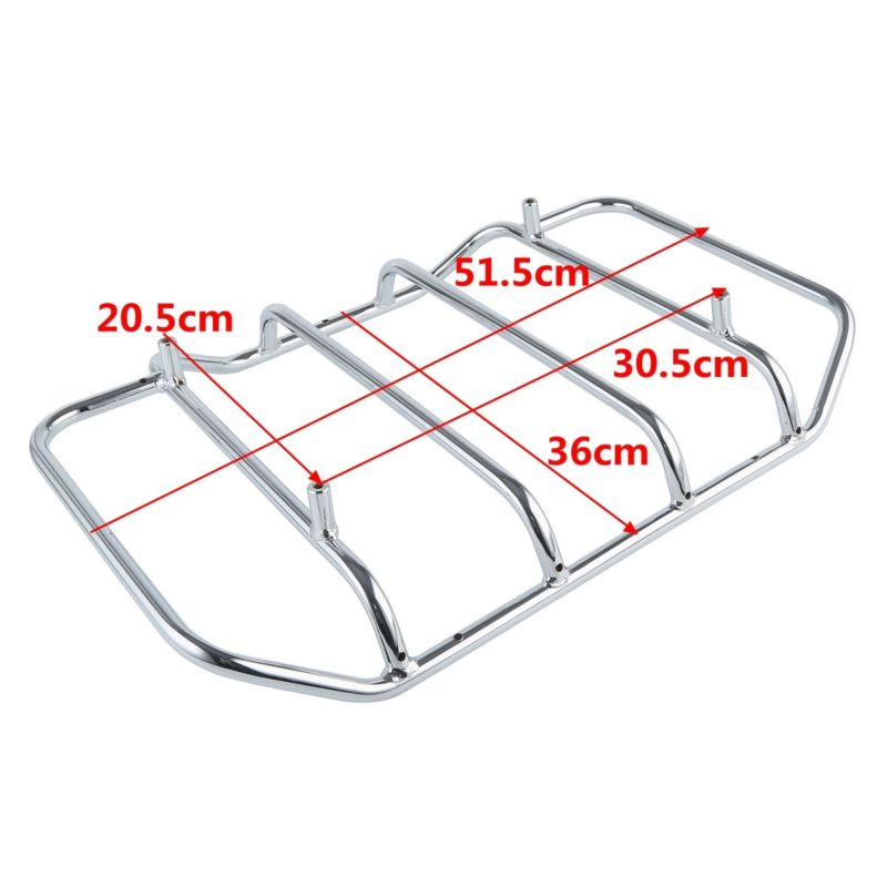 Motorcycle Motorbike Razor Tour Pak Pack Trunk Luggage Rack Rail For Harley Touring Road King Gilde FLHT FLHR 2014 2018 2017 in Top Cases from Automobiles Motorcycles