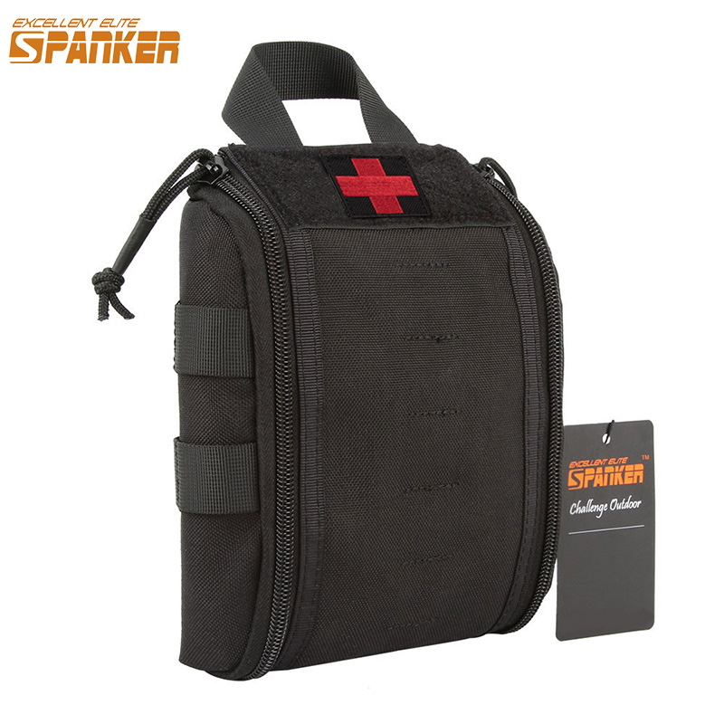 EXCELLENT ELITE SPANKER Ашық тактикалық алғашқы көмек сөмкелері Molle Quick Medical Survival Pouch Military Outdoor Hunting Bag Clip