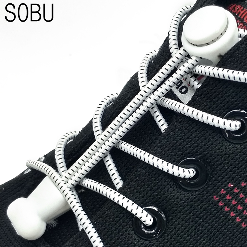 Fashion No Tie Shoelace Locking Shoe Laces Elastic Shoelace for Shoestring Running/Jogging/Triathlon/Sports Fitness N006 vsen shoe laces elastic shoelace running sports 110cm 1pair black