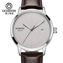 Top Brand OCHSTIN Luxury Men Watch Date Sports Automatic Mechanical Watches Male Clock Simple Style Leather Wrist Watch relogio
