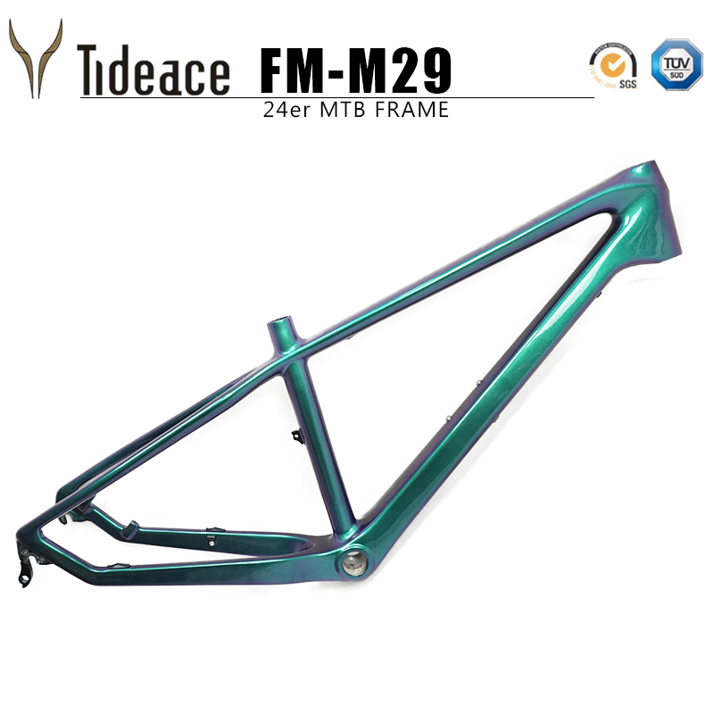 Cabon Kids Bike Frame 24er Carbon Mtb Frame 13.5inch Mountain Bike Carbon Frame 135*9mm Mtb Bicycle Frames Max 2.3 Tires
