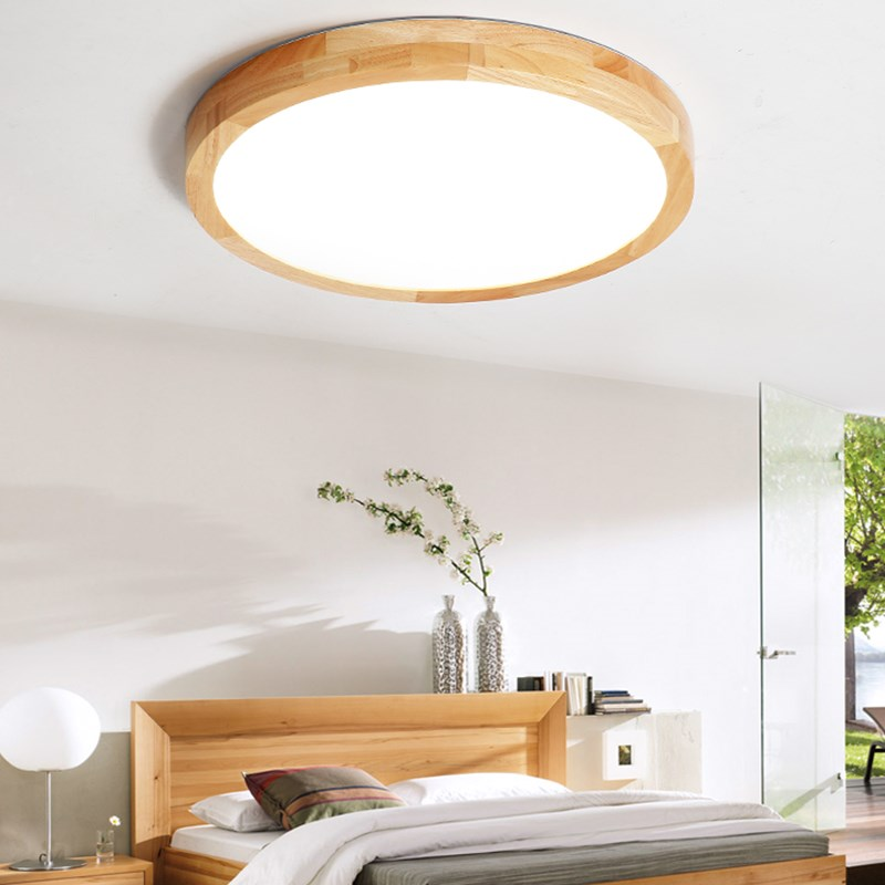 Nordic Simple Modern OAK Wood Ceiling Lamp Ultra thin Japanese LED Ceiling Lights For Bedroom Living Room Kitchen Study BalconyNordic Simple Modern OAK Wood Ceiling Lamp Ultra thin Japanese LED Ceiling Lights For Bedroom Living Room Kitchen Study Balcony