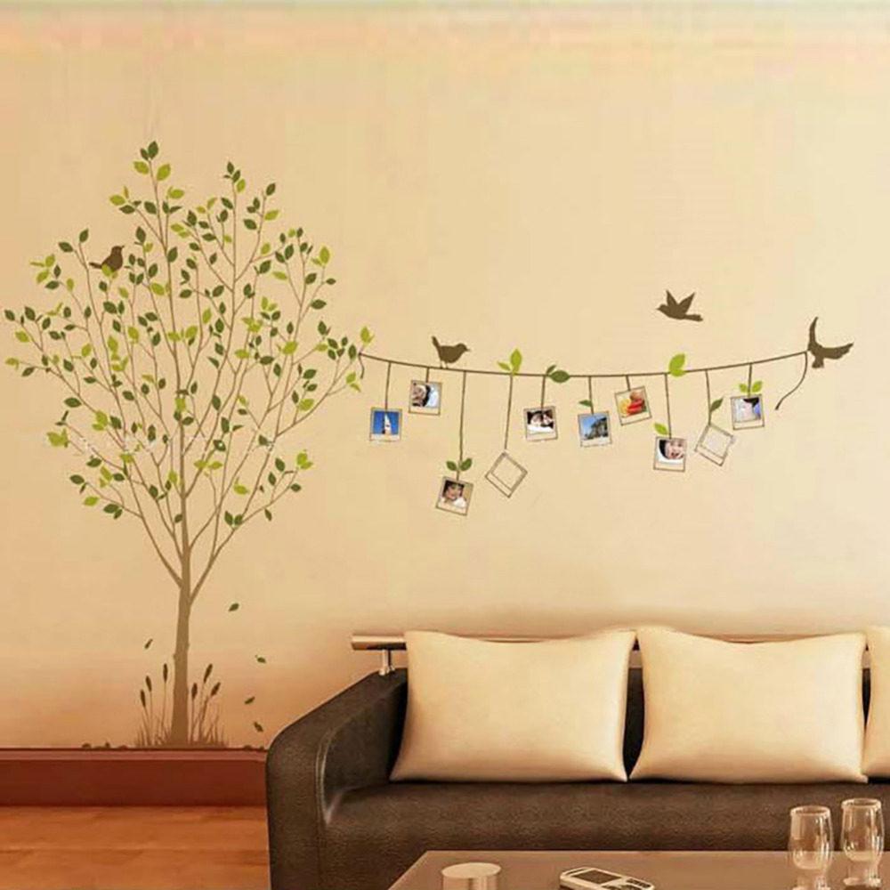 Online Shop Black Photo Tree DIY Family Album Frame Vinyl Wall ...