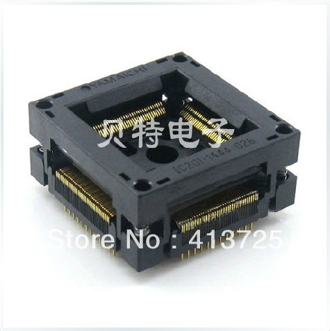 Burn Valley IC201-1444-026 test socket adapter QFP144/TQFP144 free shipping sop32 wide body test seat ots 32 1 27 16 soic32 burn block programming block adapter