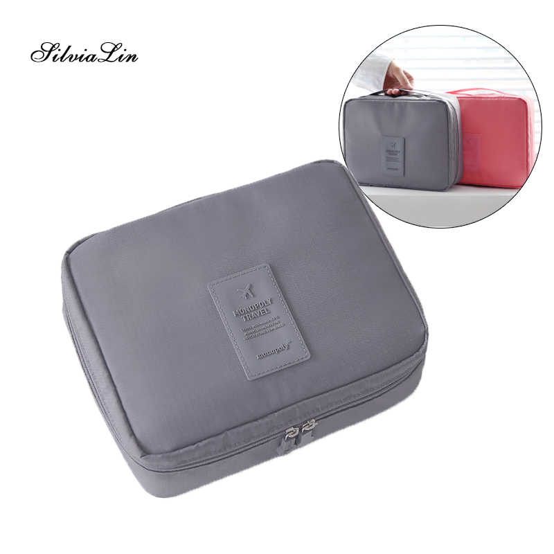 e8a47599dd36 Women Makeup Bag Cosmetic Bag Case Make Up Organizer Toiletry Storage  Neceser Rushed Floral Nylon Zipper