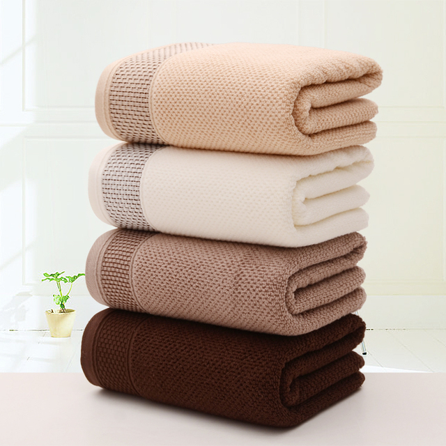 Lyn Gy Brown White Soft Absorbent 100 Cotton Solid Honeycomb Bath Towels Beach Towel For S
