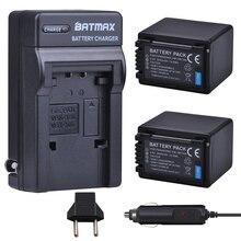 2X3900 mAh Baterias + Carregador para Panasonic VW-VBT190 VBT190 VBT380 HC-VXF999, HC-VXF990, HC-VX870, HC-VX989, HC-W570, HC-W580