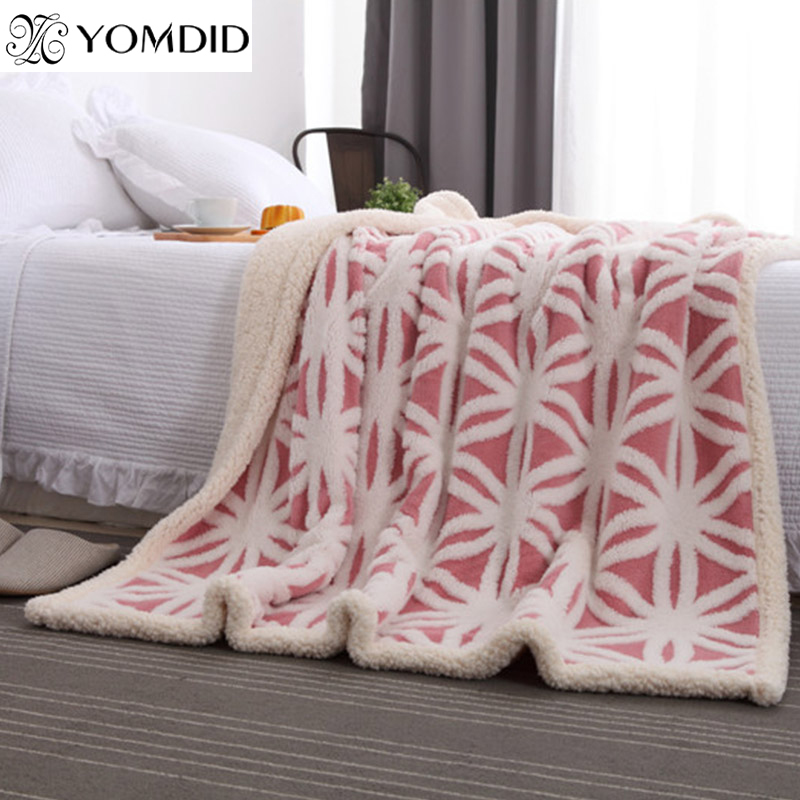 6ed8df5bb83 US $27.97 39% OFF|160*210cm Winter Soft Blanket Fleece Geometric Pattern  Fashion Blankets Sofa Throw on Bed Cover Sheet Keep Warm thick Blanket-in  ...