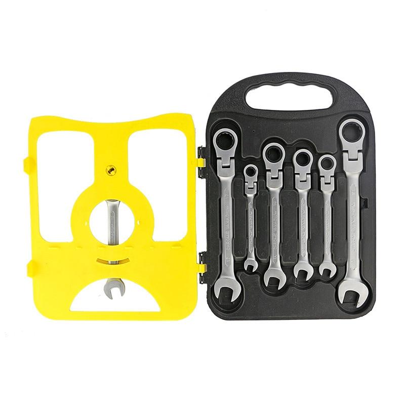 7pcs / set Chiave combinata chiave a cricchetto flessibile Set di - Set di attrezzi - Fotografia 5