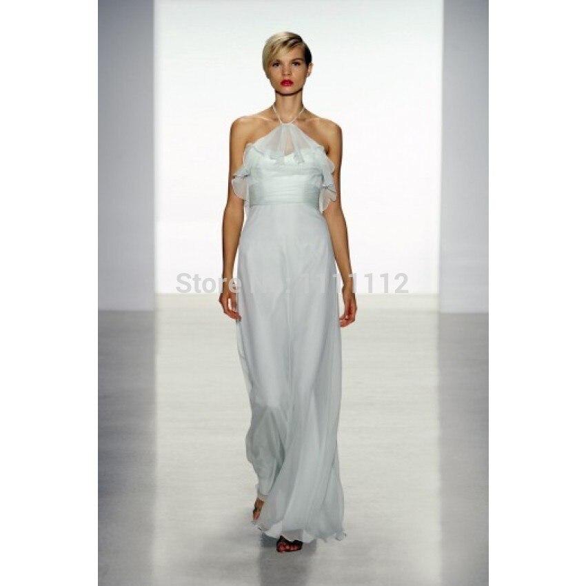 Nitree Elegant Beauty A Line Halter Floor Length Chiffon