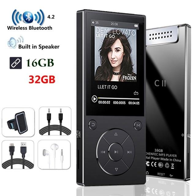Bluetooth4.2 MP3 プレーヤースピーカー 2.4 インチ画面金属ハイファイ音楽プレーヤー fm ラジオ電子ブックハイファイウォークマンサポート usbmini SD