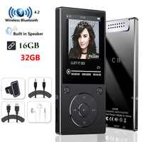 MP3 Player with Bluetooth4.2 Speaker 2.4Inch Screen metal hifi music player with fm radio eBook hifi walkman support usbmini SD