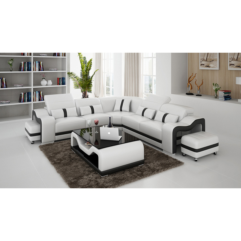 US $1390.0 |Modern Sectional Leather Sofa Set 7 Seaters-in Living Room  Sofas from Furniture on AliExpress - 11.11_Double 11_Singles\' Day