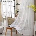 Многоразовые белые жаккардовые вуаль шторы для гостиной 50*84 дюймов Тюль с драпировкой прозрачное окно отвесный процесс белый цвет