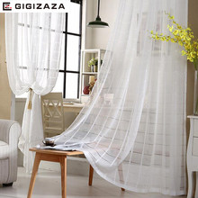 multi size white jacquard voile curtains for livingroom 50*84inch tulle drape transparent window sheer process white color(China)