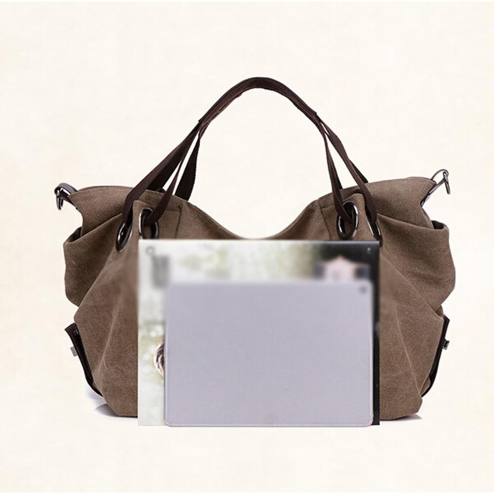 383078f4b2c0 Xiniu Women Canvas Casual Shoulder Bag Fashion Lady Purse Tote Bag ...