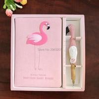 30 компл. Фламинго дневник ноутбук Розовый набор канцелярских тетрадь с ручкой Выпускной День рождения подарки