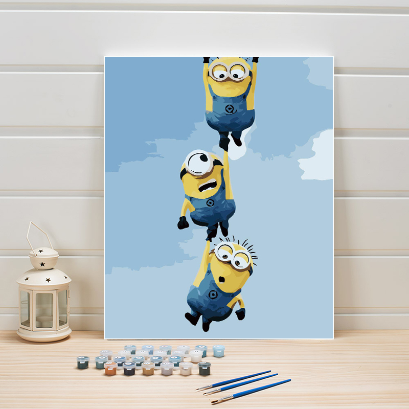 Pictures Coloring By Numbers Cartoon Anime Classical DIY Canvas Painting Acrylic Paint Hand Painted For Living Kids Room Decor