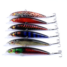 11CM 14G Minnow Jerkbait Fishing Lure Slow Floating Wobbler Bass 3D Eyes Ice Bait For Crankbait Sea Fish Trackle