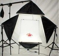 Photo Studio Kit, 23.6x39 Shooting Table 4x Softboxes 3x 6.56Ft Lighting Stand , 1x Boom Arm Hair Light with Sandbag