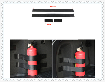 Car accessories parts fire extinguisher belt line fixing bracket velcro for BMW all series 1 2 3 4 5 6 7 X E F-series E46 E90 image