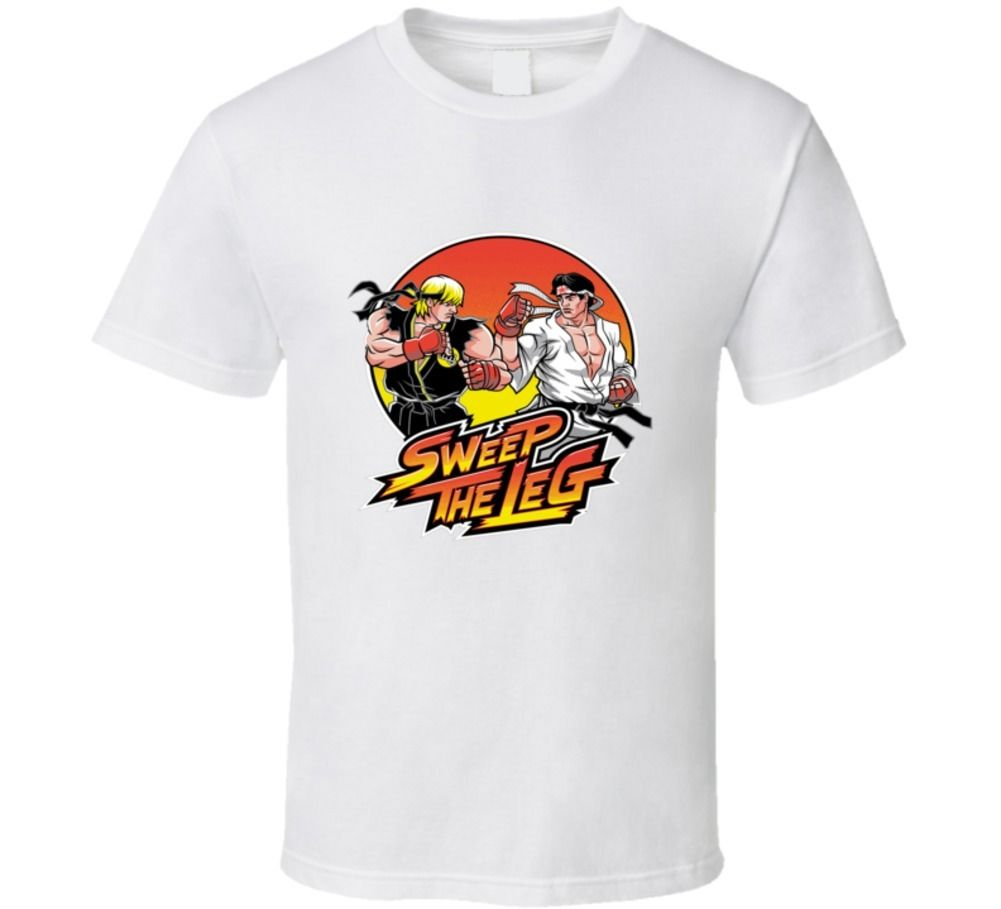 Karate kid movie video juego street fighter gildan t shirt