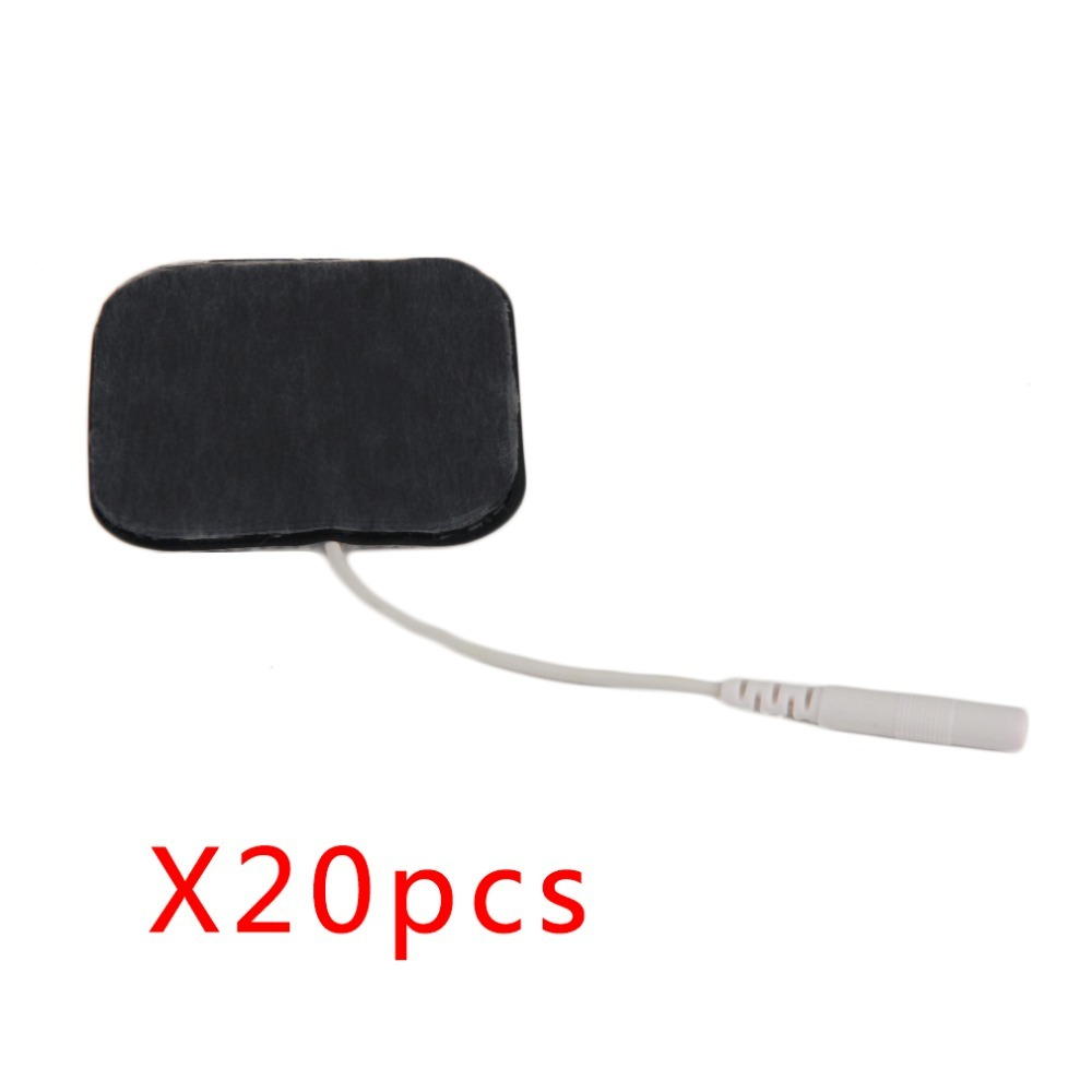 20 pcs/lot Electrode Pads for TENS Therapy Machine Electronic Cervical Vertebra Physiotherapy Massager Pad Medium Frequency