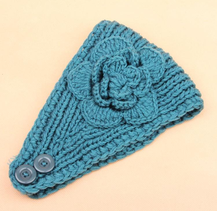 Wholesale Crochet Headband Womens Knit Hair Band Flower Headband