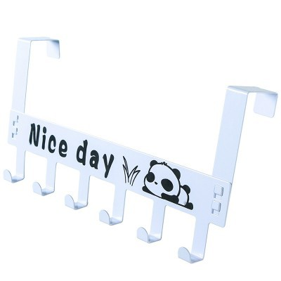 Lasperal 1PC Letter Strong Adhesive Hook Wall Door Sticky Hook Holder Organizer Kitchen Sucker Bathroom Drop 2 Color Hooks